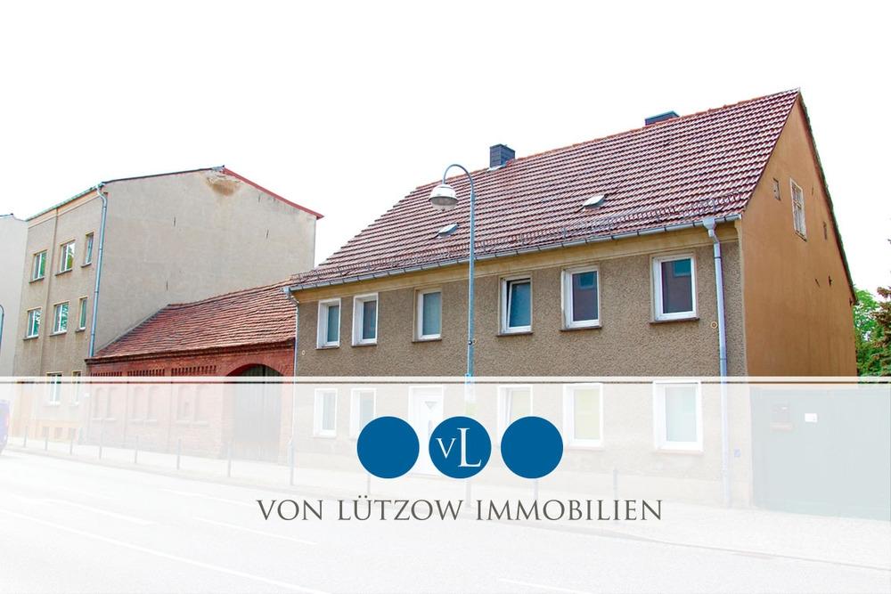 Rarität – Mehrfamilienhaus in der Stadt Zossen – sanierungsbedürftig – großes Grundstück, 15806 Zossen, Mehrfamilienhaus
