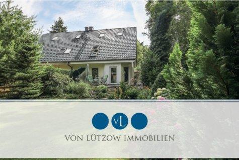 Rarität – wundervolle Doppelhaushälfte auf grünem Grundstück – Sonnenterrasse, Küche, ausbaufähig, 14552 Michendorf / Wilhelmshorst, Einfamilienhaus
