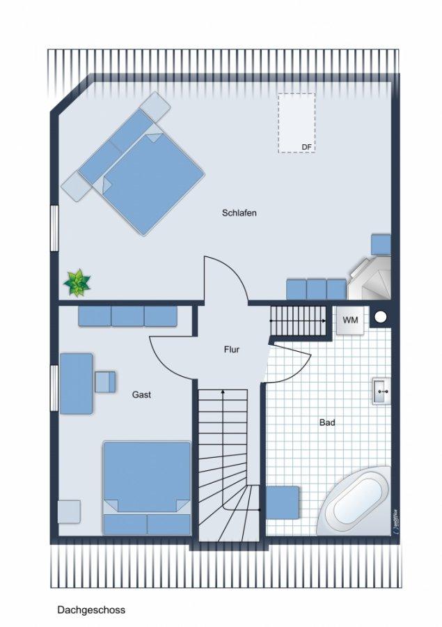 Rarität - wundervolle Doppelhaushälfte auf grünem Grundstück - Sonnenterrasse, Küche, ausbaufähig - Grundriss OG