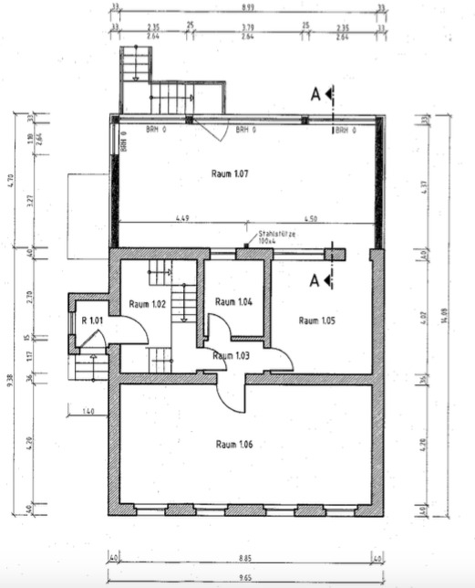 Rarität - Herrschaftliche Villa mit Einliegerwohnung, Wintergarten, Sauna, Pool, Whirlpool, Küche - Grundriss EG