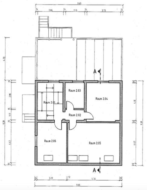 Rarität - Herrschaftliche Villa mit Einliegerwohnung, Wintergarten, Sauna, Pool, Whirlpool, Küche - Grundriss OG