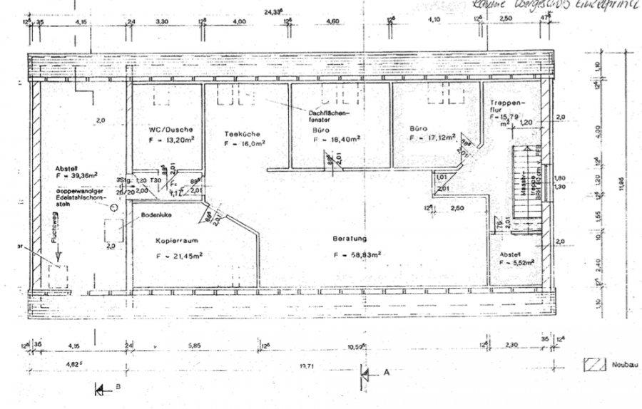 Hochwertige Büroräumlichkeiten auf eigener Etage l frisch renoviert l 1.OG l Parkett l Küche - Grundriss