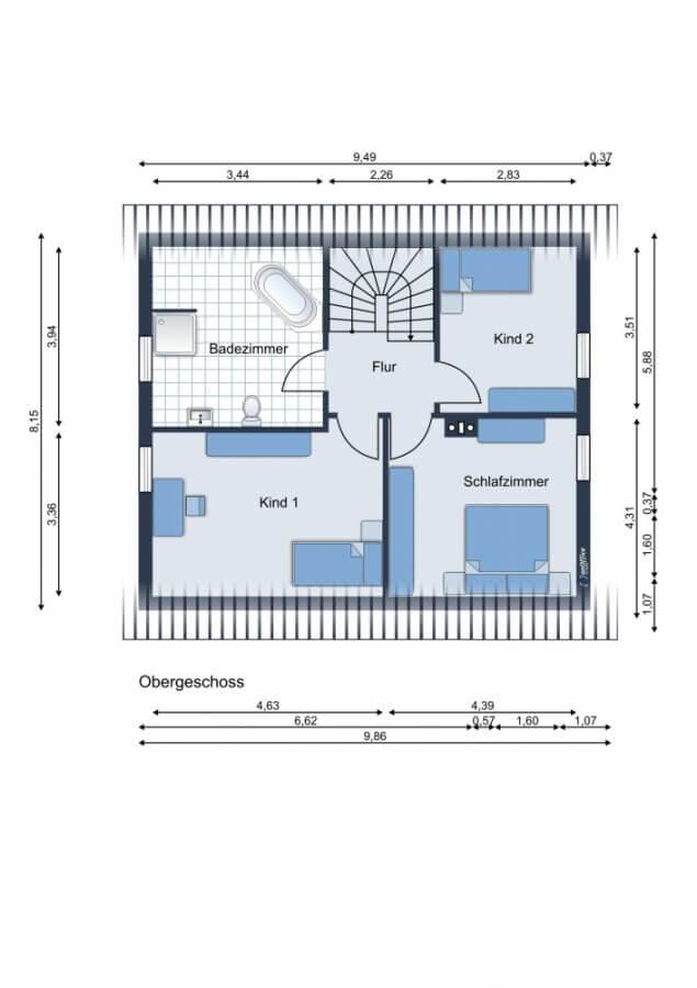 Rarität in Zeesen - Sonniges Einfamilienhaus mit Kamin, Sonnenterrasse, Küche, Garten - Ruhe, Natur - Grundriss OG