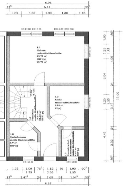 Rarität - Doppelhaushälfte l 4 Zimmer l 113 qm l 720 qm Grundstück l Klein Venedig l Seitenstraße - Grundriss EG
