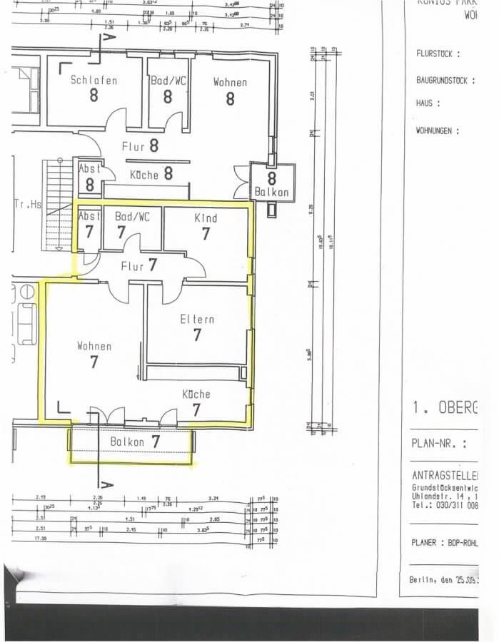 Absolut solide Kapitalanlage - vermietete Eigentumswohnung - 3-Raum-Wohnung, Balkon - Grundriss_ETW07