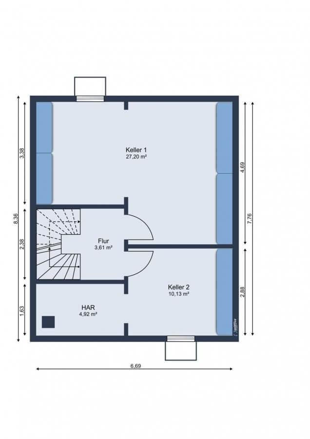 Wundervolles Reihenendhaus im Musikerviertel I 116qm I 5 Zimmer I Küche I Garten - Grundriss KG