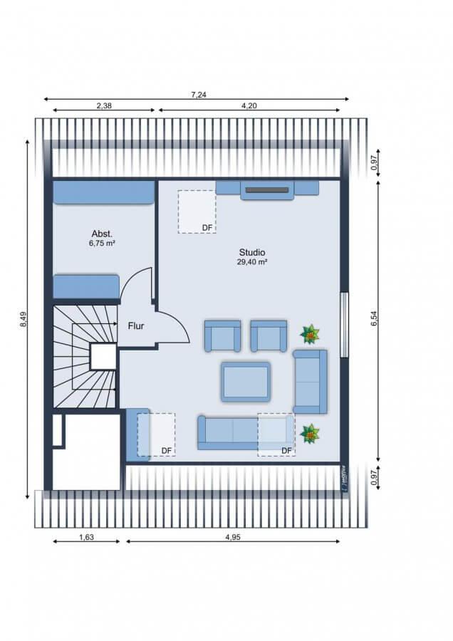 Wundervolles Reihenendhaus im Musikerviertel I 116qm I 5 Zimmer I Küche I Garten - Grundriss DG